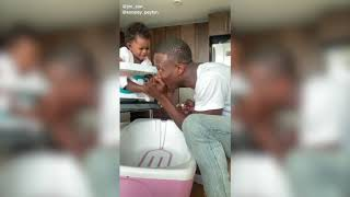 FDNY Firefighter Jimmy Howell Gives Daughter a Pedicure