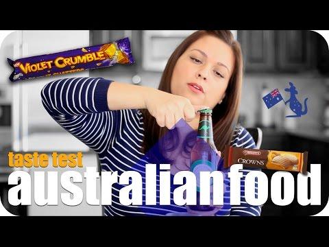 AUSTRALIAN FOOD TASTE TEST #1 | AUSTRALIA | VIVIAN REACTS