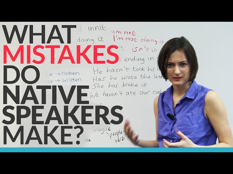 What grammar mistakes do native speakers make?