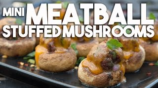 Mini Meatball Stuffed Mushrooms - Perfect Appetizer!