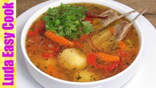 АРОМАТНАЯ ШУРПА УЗБЕКСКАЯ КУХНЯ ВКУСНЕЙШИЙ ГУСТОЙ СУП НА ОБЕД | Shurpa Lamb Vegetable Soup Recipe