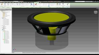 Subwoofer Excursion Simulation - Autodesk Inventor