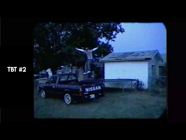 TBT #2 / Off a Trampoline to a Moving Truck STUNT / Circa March 2001
