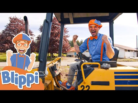 Blippi Learns About Bulldozers &  Excavators!   Vehicles for Kids   Educational Videos For Toddlers