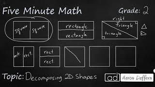 2nd Grade Math Decomposing 2D Shapes