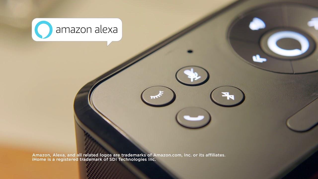 iHome iAVS16 | Bedside clock system | Far Field Amazon Alexa
