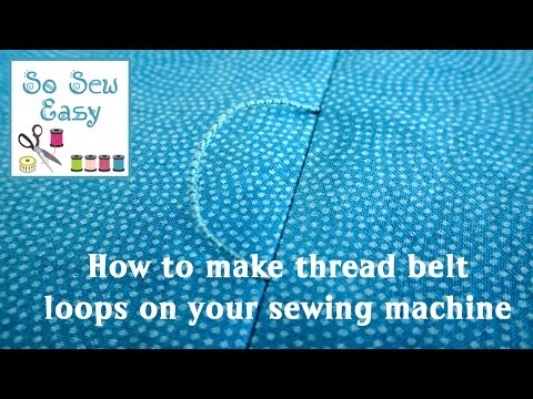 How To Make Thread Belt Loops For A Dress