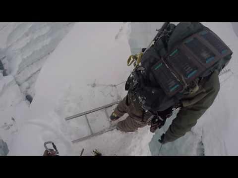 2016 May Island Peak 1st Crevasse Ladder