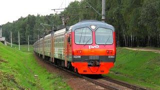 ЭД4М-0394 \РЭКС\ сообщением Москва Ярославский вокзал - Болшево с приветствием от бригады