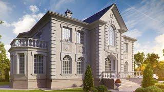 Загородный дом в классическом стиле (Рижское шоссе)(Общая площадь - 750 кв.м. http://www.topdom.info/rl23.php - страница проекта., 2013-03-19T21:24:41.000Z)