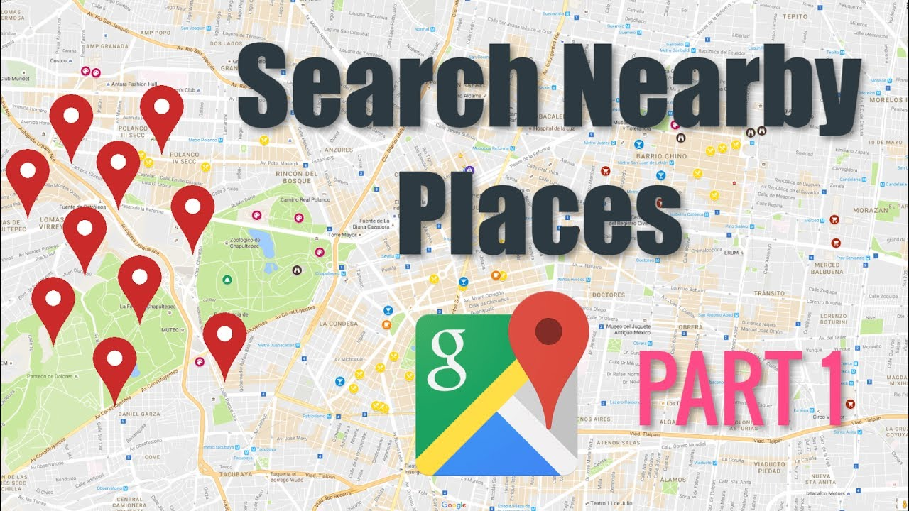 Google Maps Nearby Places Tutorial Part 1 Android Tutorials