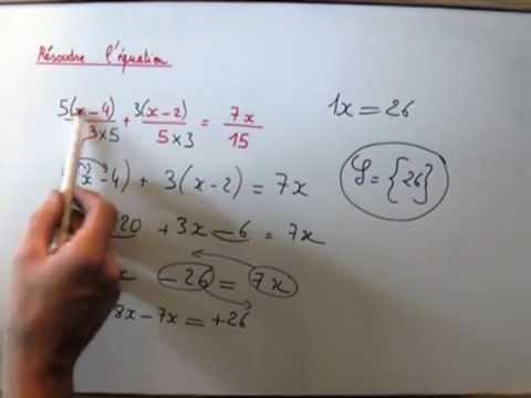 Equation avec fraction niveau SECONDE : méthode de résolution - YouTube