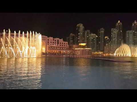 Dubai Downtown Musical Fountain [Burj Khalifa, Dubai Mall]