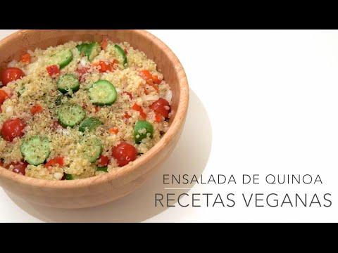 Ensalada de quinoa recetas veganas y vegetarianas youtube for Cocinar 1 taza de quinoa