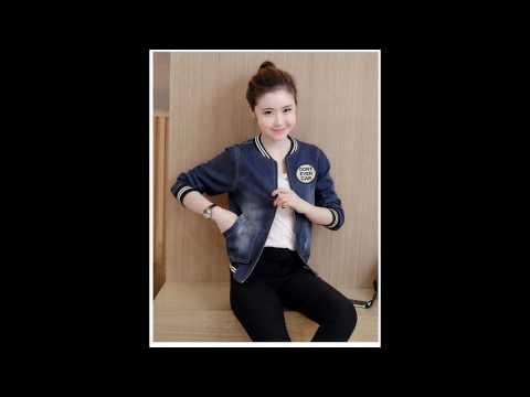 4T - Áo Khoác Jean Nữ Phối Logo Thời Trang Mã B3806