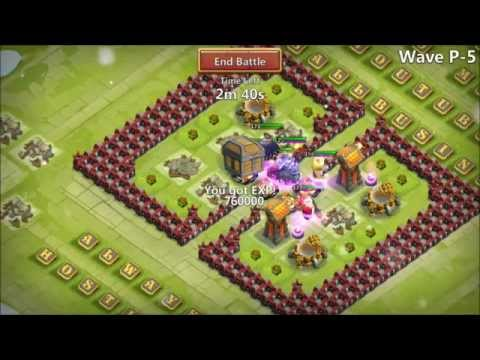 Death Knight Castle Clash IOS Farming HBM P In Action Crazy Fast Victory