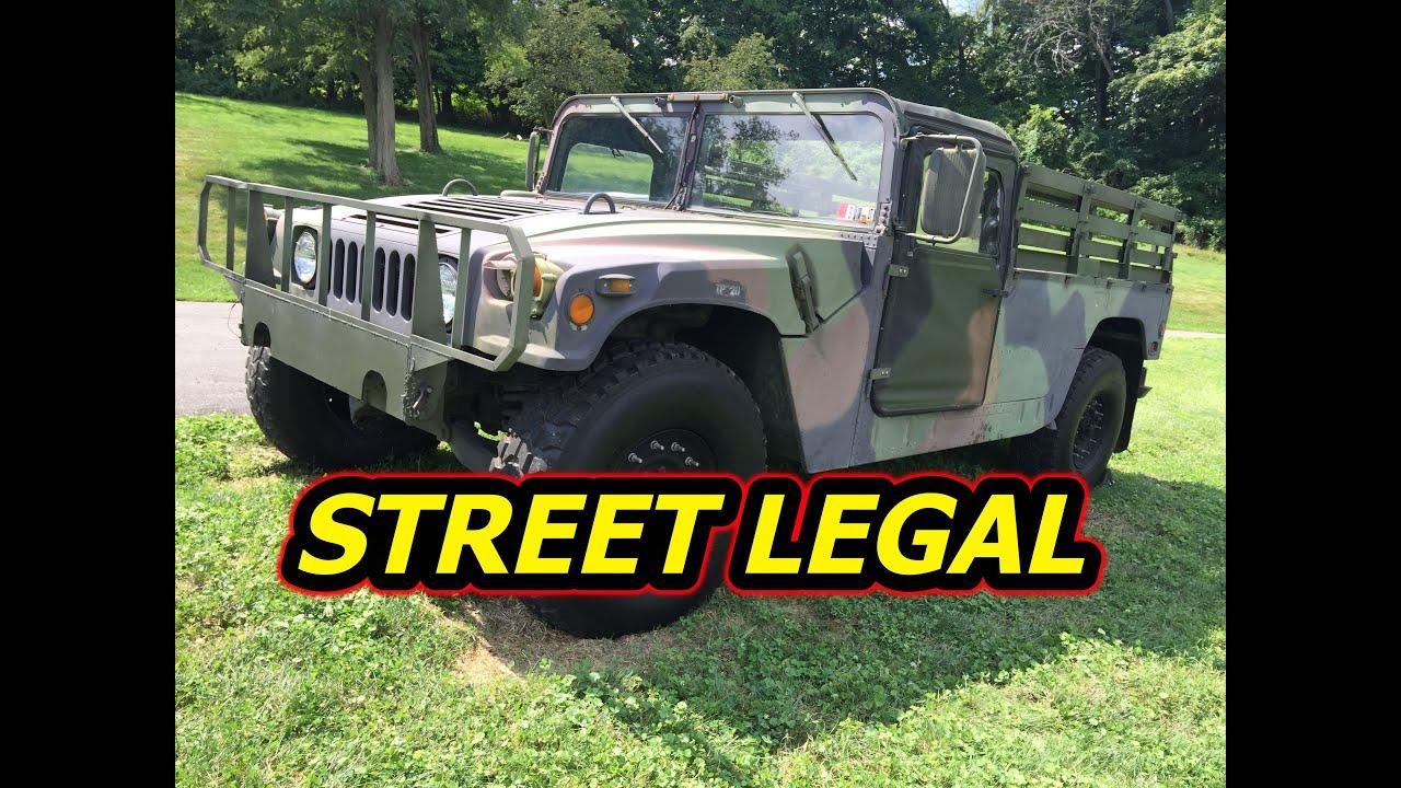 Hummer h1 street legal for sale