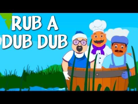 Rub A Dub Dub | Nursery Rhyme With Lyrics | English Rhymes For Kids