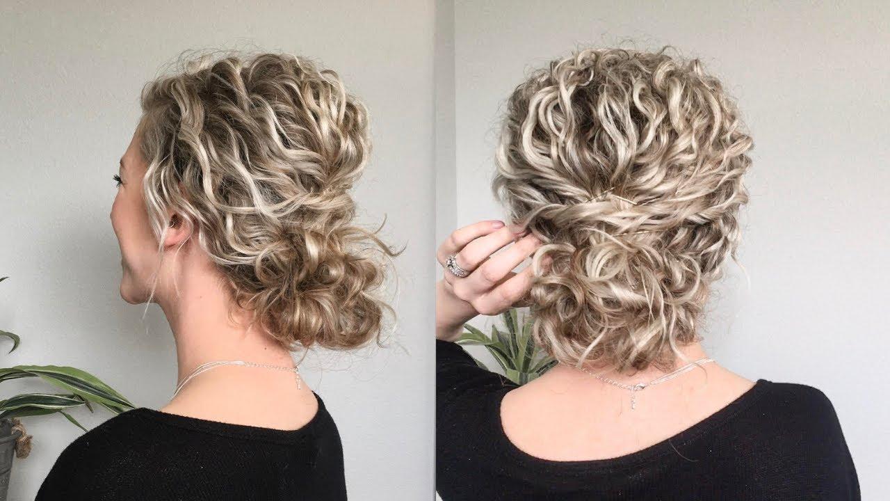 Naturally Wavy Curly Hair Updo Youtube