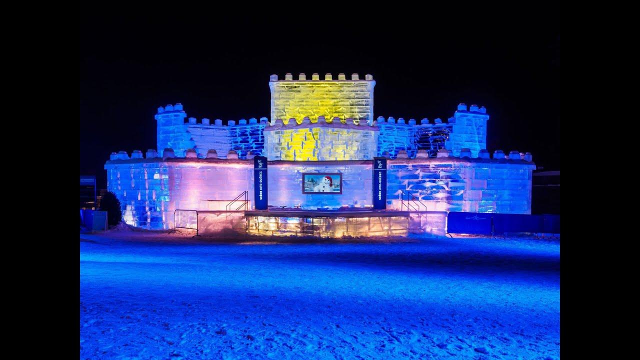 Construction du palais de glace de bonhomme youtube - Saint de glace 2018 ...
