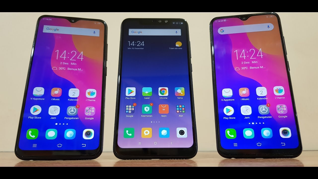 Vivo Y95 Vs Redminote 6 Pro Vs Vivo Y91 Speedtest Antutu And