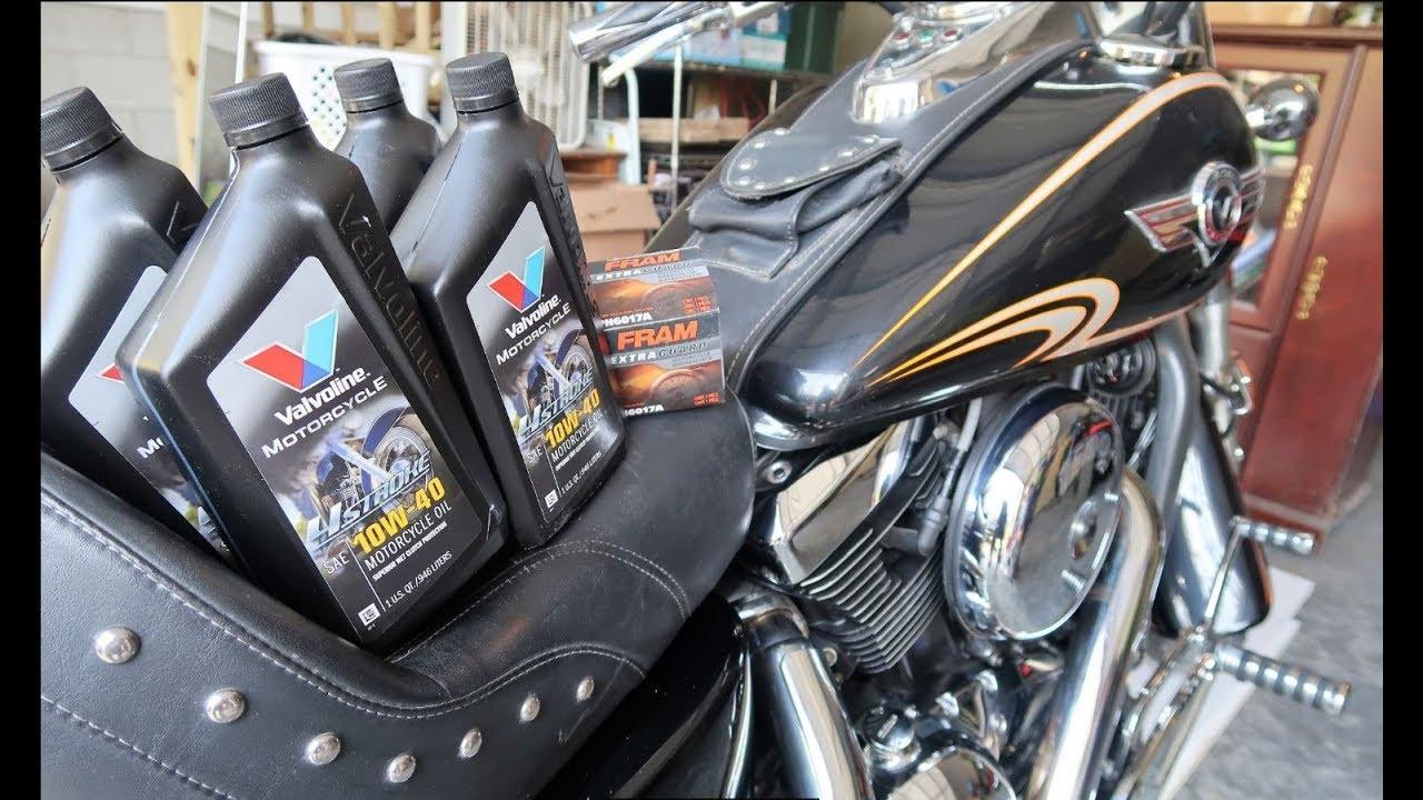How To Change Motorcycle Oil Kawasaki Vulcan