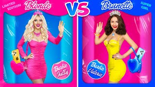 POPULAR Blonde vs NERD Brunette Girls | Challenge and Funny Moments in Life by RATATA