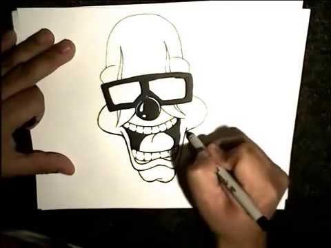 Mehdi masouab comment dessiner un clown youtube - Dessiner un clown ...