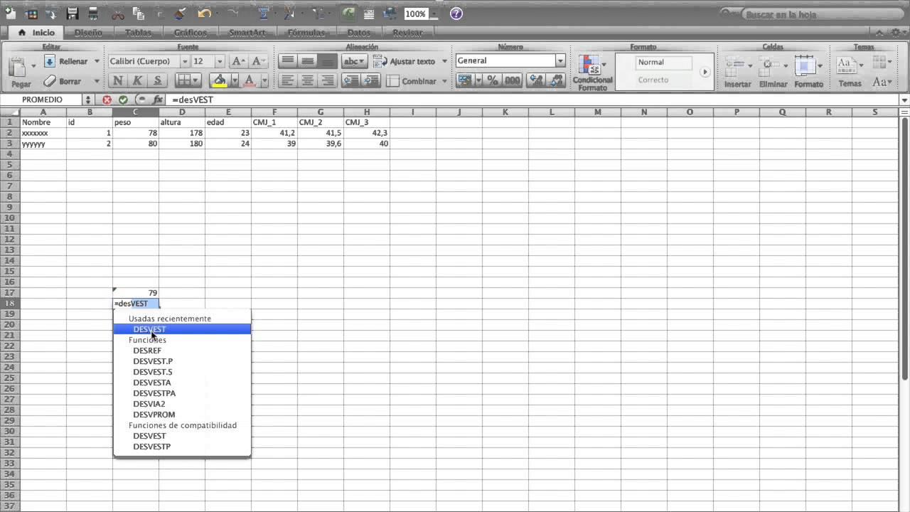 Hoja registro datos excel - Nivel inicial - YouTube