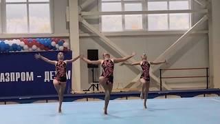 Женская тройка. Спортивная акробатика. Омск