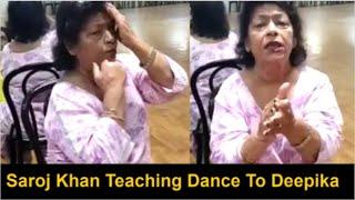 Saroj Khan Teaching Expression For Deepika Padukone's Dance In Bajirao Mastani