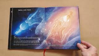 Norse Mythology art book flip-through