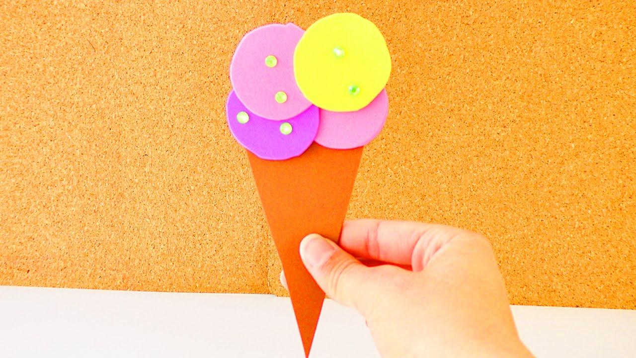 Sommerdeko   Eis Aus Mosgummi Basteln Erdbeer, Zitrone, Blaubeere Im  Hörnchen   Geschenkkarte