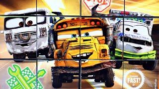 Тачки Молния Маквин Веселые грузовики собираем кубики пазлы для детей из мультика Lightning McQueen