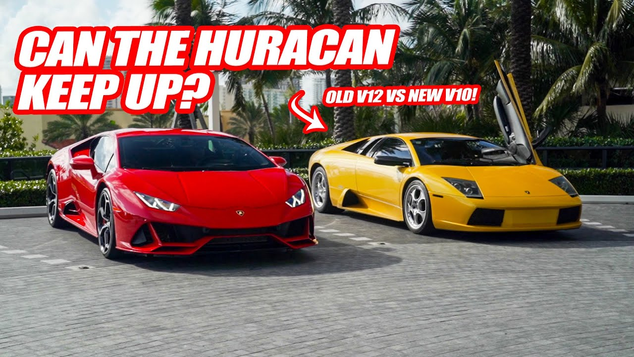 2020 LAMBORGHINI HURACAN EVO VS  MURCIELAGO! *CAN THE NEW V10 KEEP UP WITH THE OLD V12 SUPERCAR?*