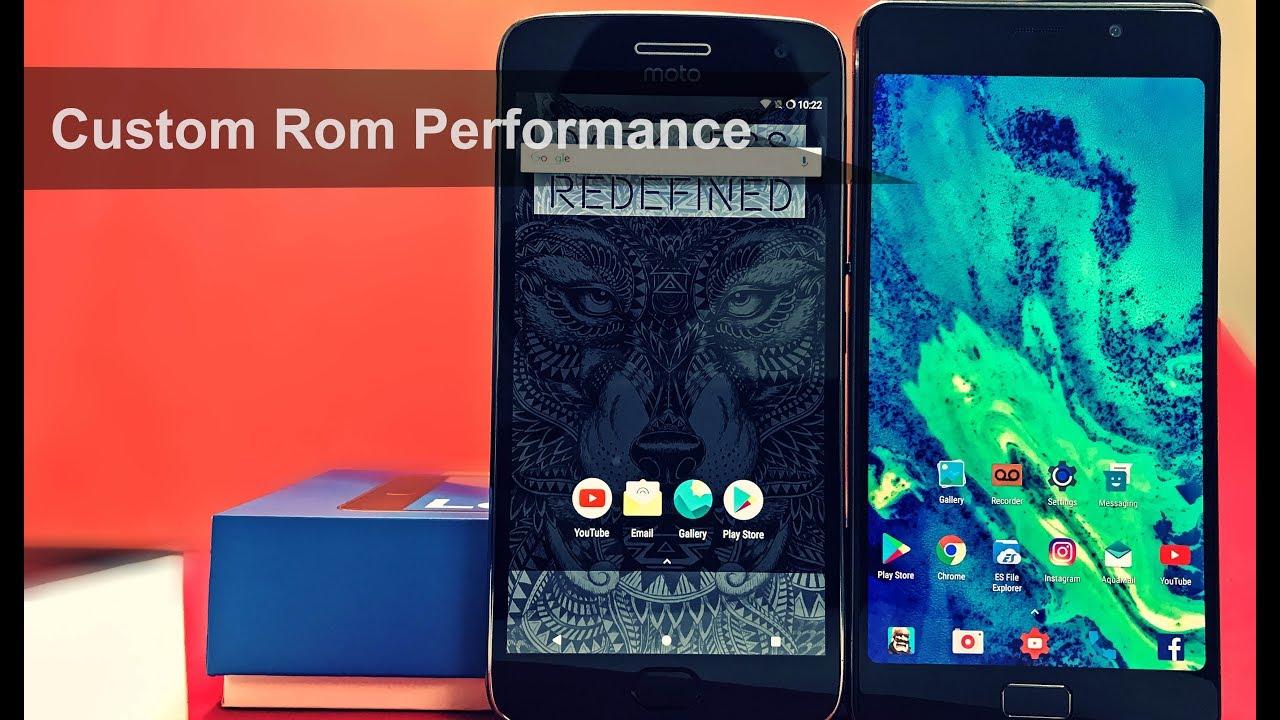 Lenovo P2 vs Moto G5 Plus Custom Rom Benchmark | Custom Rom or Stock  Firmware