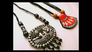 DIY statement neckless from clay | shilpkar clay craft | how to make jewellery from clay