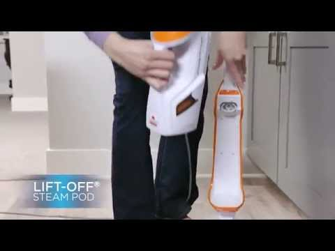 PowerFresh Lift Off Steam Mop Pet - Orange