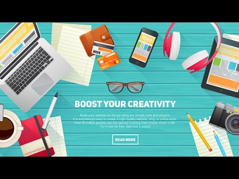 Creating Flat Workspace Elements for Advertisements: Introduction