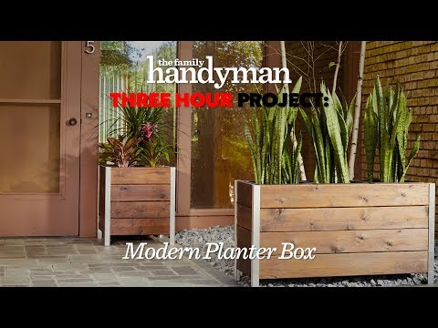 Three Hour Project: Stylish Modern Planter Box