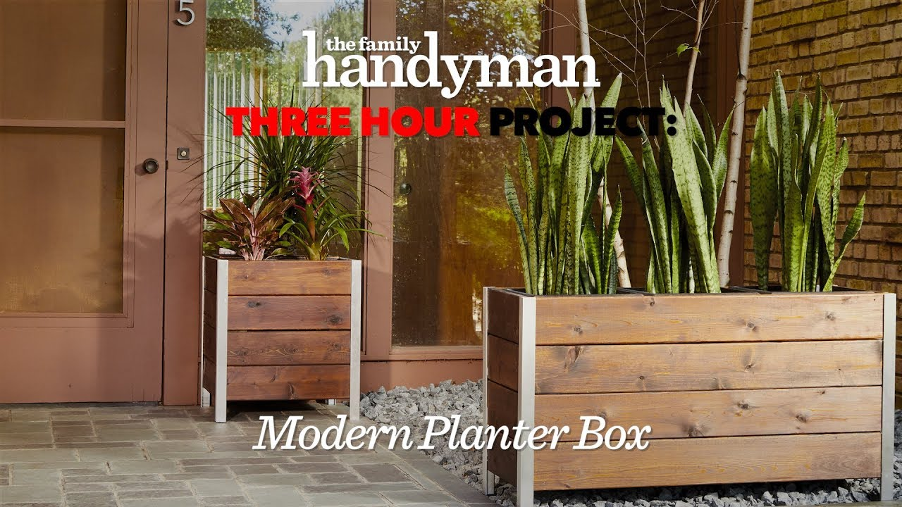 Three Hour Project Stylish Modern Planter Box Youtube