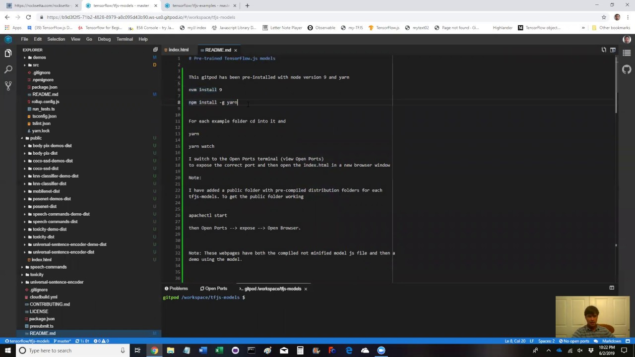 Beginner Tensorflowjs Examples in Javascript