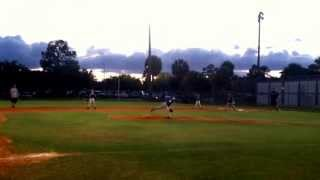 Little League Minor Championship game ending double play