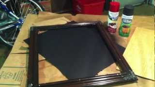 Diy Homemade Chalkboard - Simple Craft Project - Valentine's Day