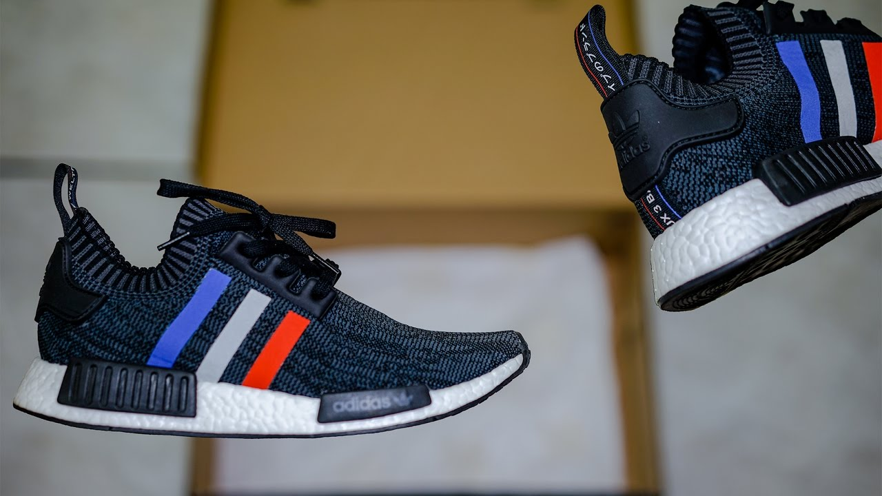 82f8f0bb5c026 ADIDAS BLACK TRI COLOR PK NMD