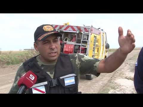 Sequía e incendio en Ceibas