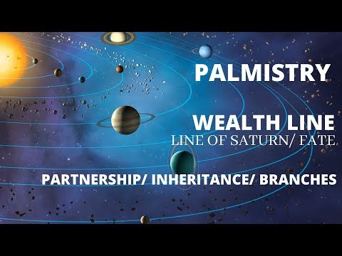 WEALTH LINE (LINE OF SATURN/ FATE)- PARTNERSHIP/ INHERITANCE/ BRANCHES