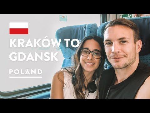 2ND CLASS FOR 8 HOURS 🚂 Train Krakow to Gdansk & Sopot   Poland Travel Vlog 2018