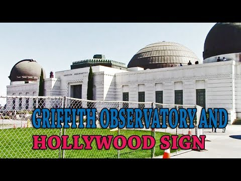 GRIFFITH OBSERVATORY AND HOLLYWOOD SIGN IN LOS ANGELES, CALIFORNIA USA