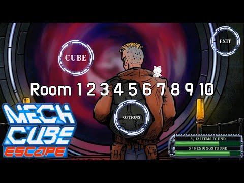 Mech Cube Escape Room 1 2 3 4 5 6 7 8 9 10 Walkthrough (OGUREC APPS)